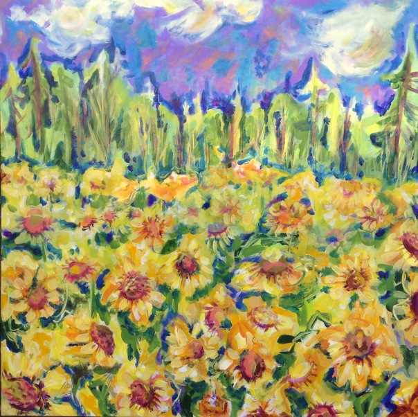 Clark Sunflowers Acrylic